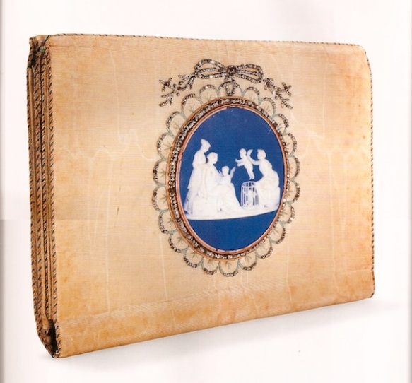 English-19th-century-silk-letter-case-with-Wedgewood-medallion-46