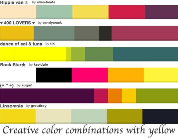 colorcombinationswithyellow