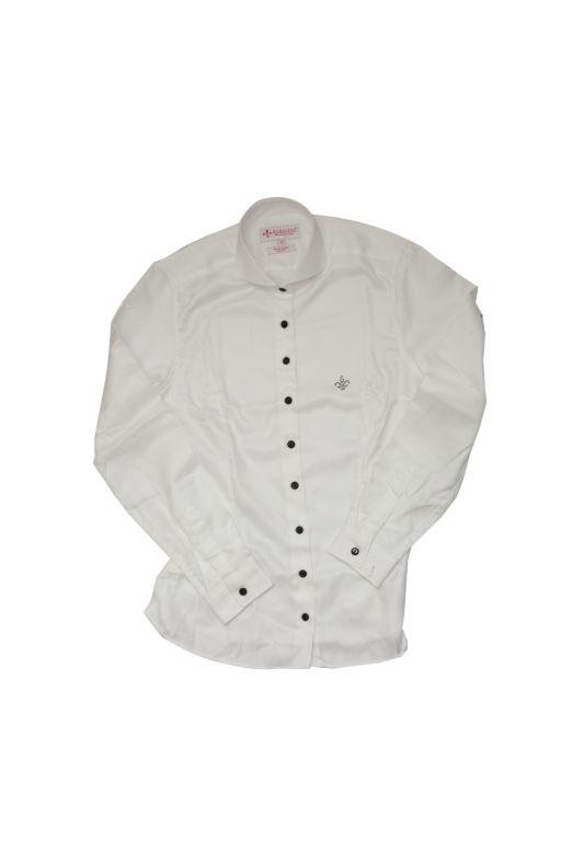 Dudalina - Camisa algodão egípcio com botões e cristais Swarovski - R$ 349,90 (1)