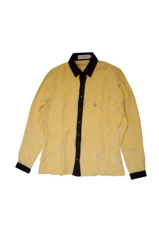 Dudalina - Camisa crepe de seda pura com cristais Swarovski - R$ 699