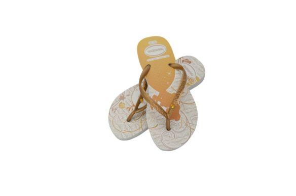 Havaianas Kids Slim Princess Glamour feita com cristais Swarovski - R$ 25,90