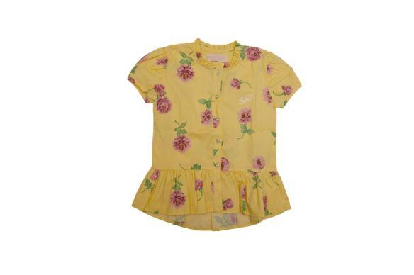 Pituchinhu's - Camisa Estampada com babado e cristais Swarovski