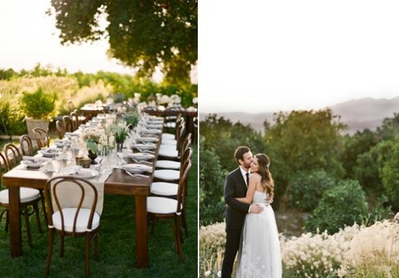rustic-Ojai-garden-wedding-farmhouse-family-style-reception-tables